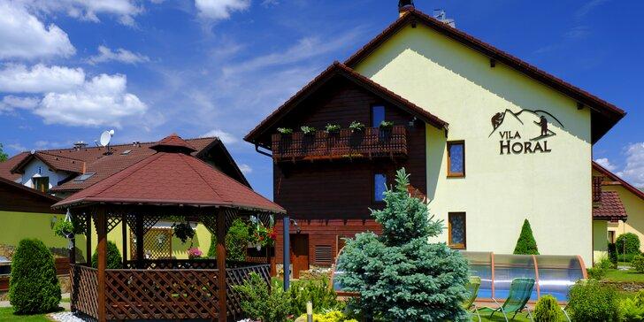 Pobyt v apartmánoch Vily Horal v Demänovej s vonkajším bazénom a adventure minigolfom