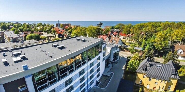 Hotel na brehu poľského mora s polpenziou, wellness zónou a vstupom do aquaparku