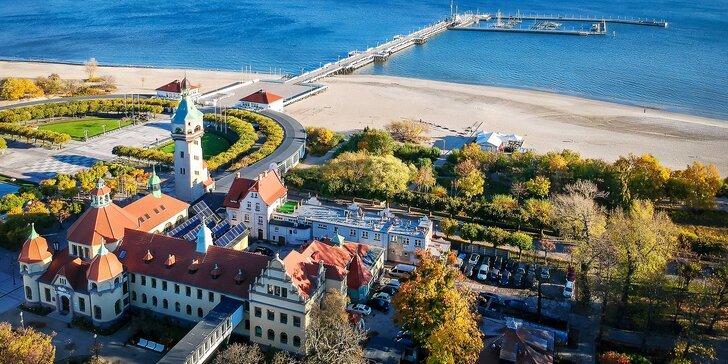 Prímorské kúpele v Poľsku: dovolenka pri Baltskom mori s polpenziou a vstupom do aquaparku