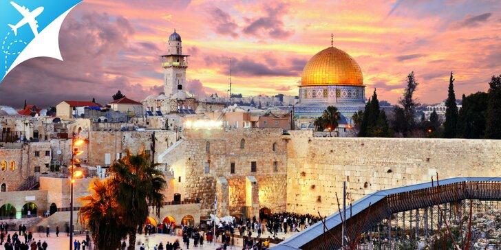Jedinečný 4. alebo 5.dňový zájazd do Izraela: Tel Aviv, Mŕtve more, Betlehem a Jeruzalem