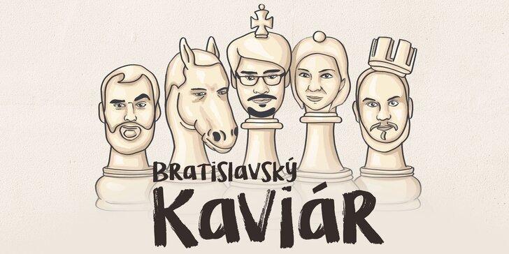 Vstupenka na zábavnú glosátorskú show Bratislavský Kaviár