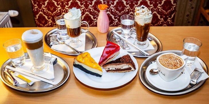 Lahodná káva a zákusok podľa vlastného výberu v Café Kupé