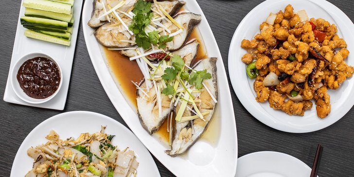 """Tradičná čínska špecialita - luxusná treska s prílohou """"Nian gao"""""""