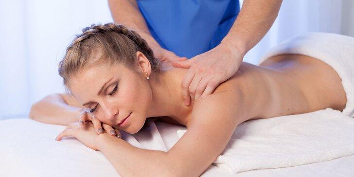 30, 45 či 60-minútová klasická masáž častí tela podľa vášho výberu