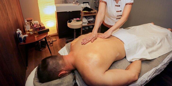 Relax pre telo i dušu s 3 druhmi pravých thajských masáží