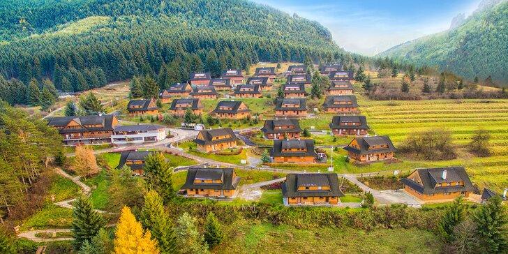 Jesenný pobyt v rezorte Drevenice Terchová resort s wellness a aktivitami v krásnom prostredí NP Malá Fatra