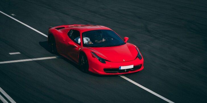 Adrenalínová jazda na okruhu Hradec Králové na luxusných autách Ferrari, Porsche, Aston Martin,McLaren, BMW alebo Lamborghini! Palivo v cene!