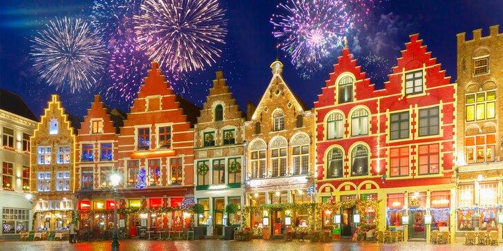 Silvester v Belgicku: Brusel a Bruggy pod žiarivým ohňostrojom