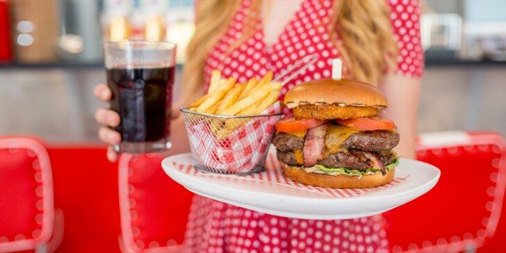 Chuť pravých amerických burgerov aj s hranolčekmi a nápojom v retro podniku Hailey´s