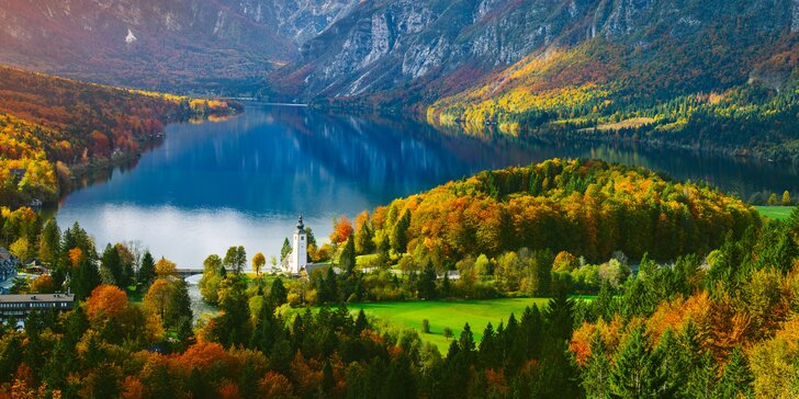Wellness pobyt pri slovinskom jazere Bohinj s raňajkami alebo polpenziou pre pár