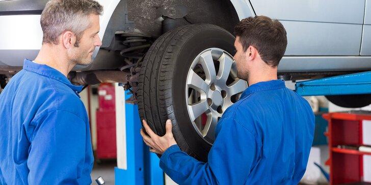 Výmena alebo kompletné prezutie s vyvážením a kontrolou vozidla