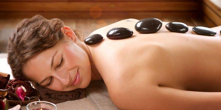 Olejová masáž podľa výberu – klasická, relaxačná alebo lávovými kameňmi