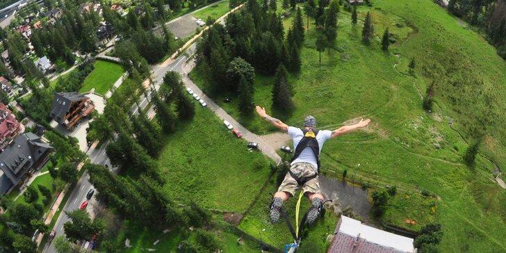 Jedinečný bungee jumping z 90 m výšky v Zakopanom