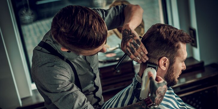 Pánsky strih a úprava brady u barberov v centre Nitry!