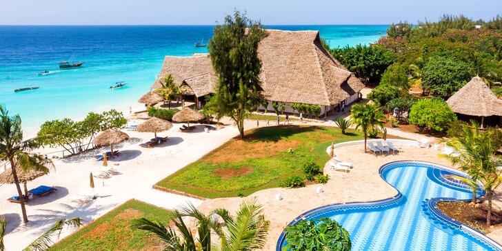 Exotický 4*+ rezort na Zanzibare: 6-12 nocí, all inclusive, sladkovodný bazén