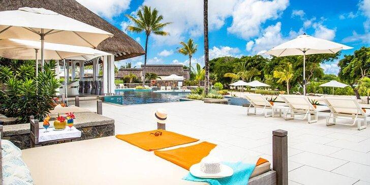 5* rezort s kúpeľmi na Mauríciu: 6-12 nocí, all inclusive, bazén, priamo pri pláži