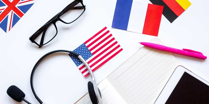 Ročný online kurz 4 jazykov + prístup pre druhú osobu zdarma