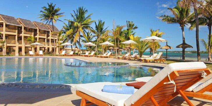 4* rezort na Mauríciu: 6-12 nocí, all inclusive, veľký bazén, priamo na pláži