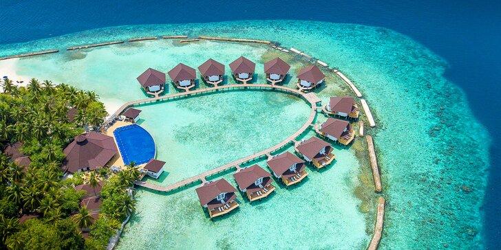 Exotická dovolenka v 4* resorte na Maldivách: 6–12 nocí s all inclusive, bazén