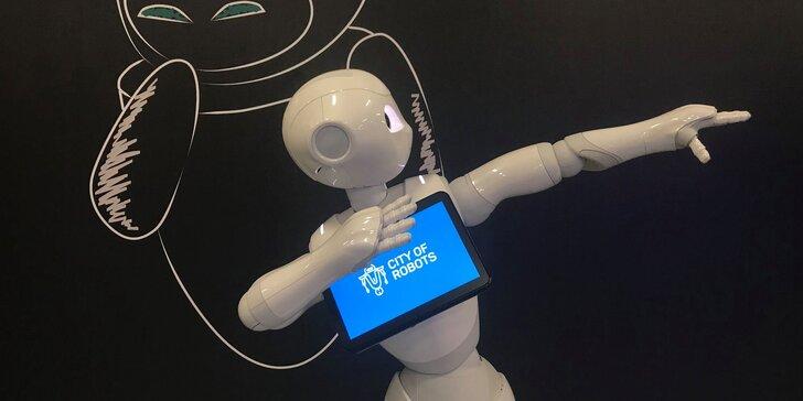 Vstupenka na medzinárodnú interaktívnu výstavu Mesto Robotov pre veľkých aj malých
