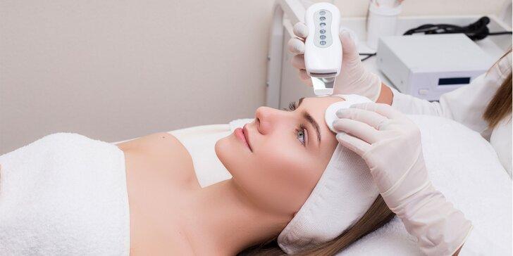 Hĺbkové manuálne či ultrazvukové čistenie pleti, mikrodermabrázia a chemický peeling