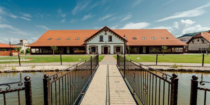 Pobyt s každodenným špičkovým wellness svetom v krásnom areáli Masarykov dvor*** s možnosťami jazdy na koni a unikátnymi výletmi v Podpoľaní