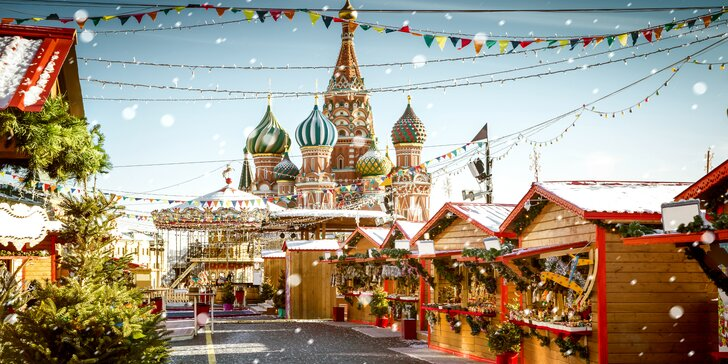 Vianočná Moskva alebo Petrohrad - ubytovanie, letenky a prehliadka centra so sprievodcom