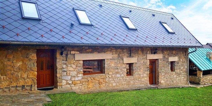 Pobyt v Kamennom domčeku: v obklopení krásnej prírody, vhodný pre partie či rodiny