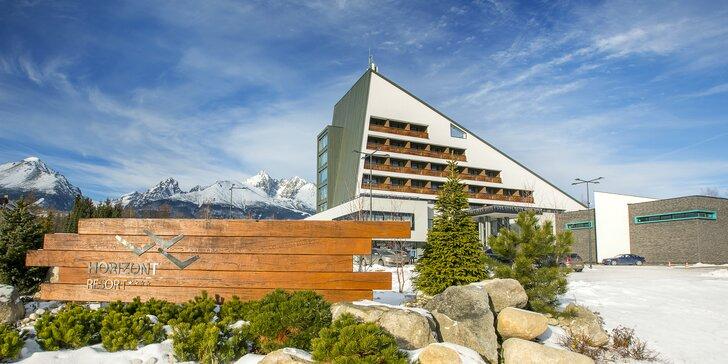Exkluzívna dovolenka v hoteli HORIZONT Resort**** v Tatrách s neobmedzeným wellness + celodenným Aquacity Poprad