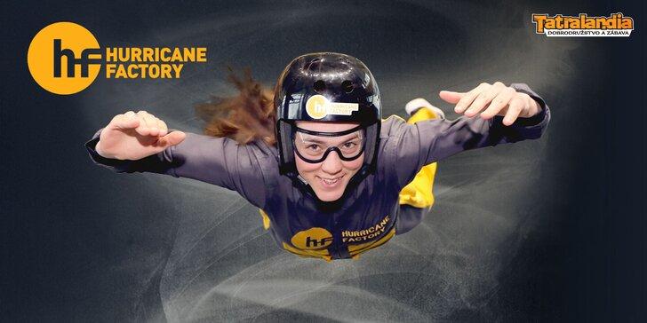 Vymeňte stereotyp za poriadny adrenalín a zalietajte si v Hurricane Factory!