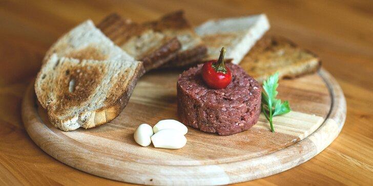 Tatársky biftek z pravej hovädzej sviečkovice