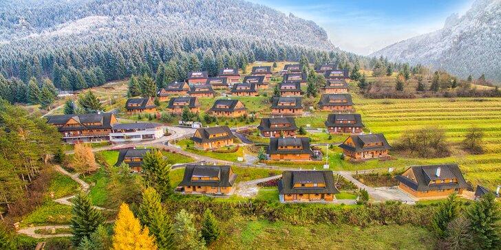 Zima a Jar v rezorte Drevenice Terchová resort s wellness, lyžovačkou a ďalšími aktivitami v krásnom prostredí NP Malá Fatra