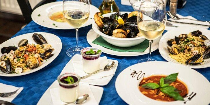 Talianske 4-chodové menu pre dve osoby