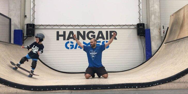 Balíčky akčnej zábavy a kurzov v multifunkčnej športovej hale Hangair