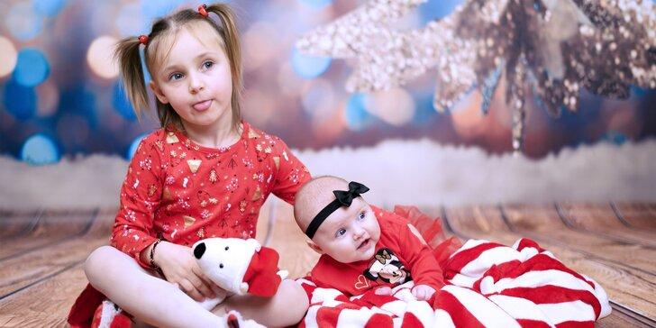Profesionálne vianočné fotografovanie v ateliéri alebo portréty