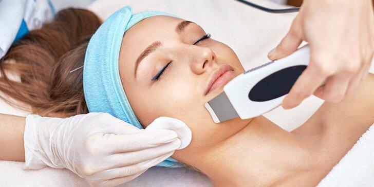 Ultrazvukové čistenie pleti s masážou tváre alebo darčekové poukazy