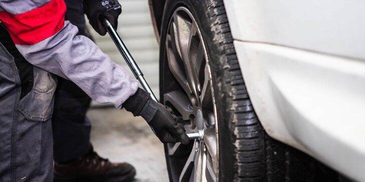 Výmena zimných pneumatík za letné aj s vyvážením kolies