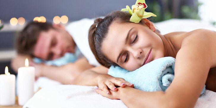 Relaxačná harmonizujúca masáž pre páry: 60 alebo 90 minút