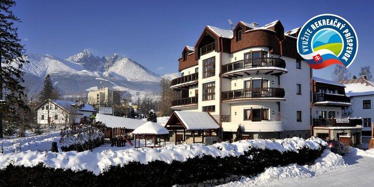 Pobyt pre 2 až 6 osôb vo Vysokých Tatrách v apartmánoch Vila BEATRICE** a zvýhodnené vstupy do Aquaparkov