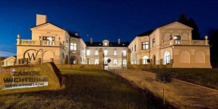 Luxusný pobyt na zámku Wichterle: pivné kúpele, chutná polpenzia a masáže