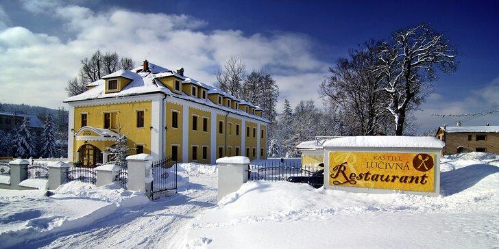 Relax pre dvoch v Kaštieli Lučivná - pobyt v lone tatranskej prírody, raňajky v cene