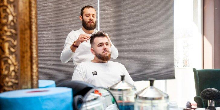 Pánsky strih s úpravou brady u barbera
