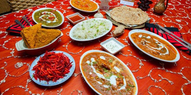 Indické menu pre 2 osoby v Royal Kashmir Indian Restaurant