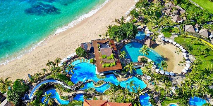 Zažite exotiku v 5* rezorte na Bali: 6-12 nocí s raňajkami a súkromnou plážou