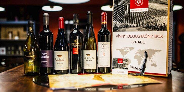 Set izraelských vín aj s degustačnou mapou a vývrtkou