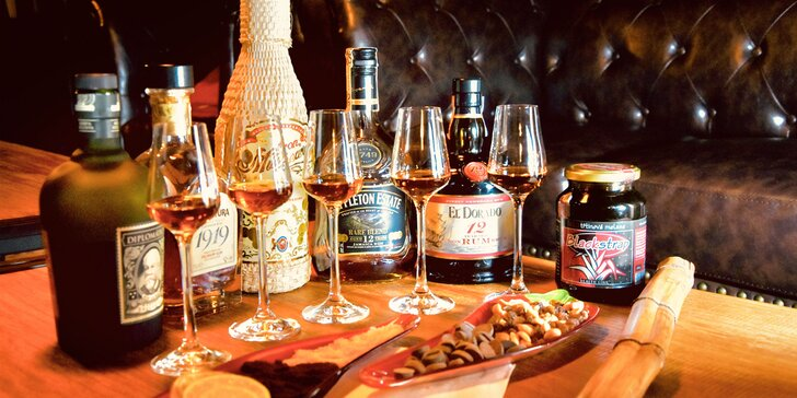 Degustácia 7 druhov rumov s výkladom v jedinečnej rumotéke
