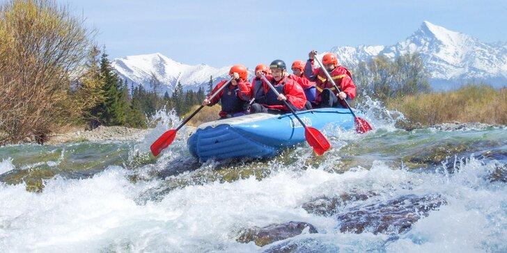 Zážitkový rafting pod Tatrami na divokej rieke Belá
