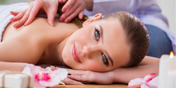 Relaxačná masáž rôznych častí tela - šija, chrbát alebo chodidlá