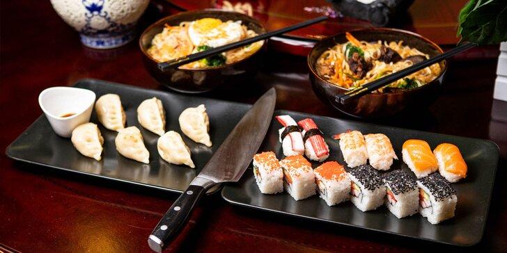 Bohaté menu pre dvoch v ázijskej reštaurácii Dynasty v Panorama City