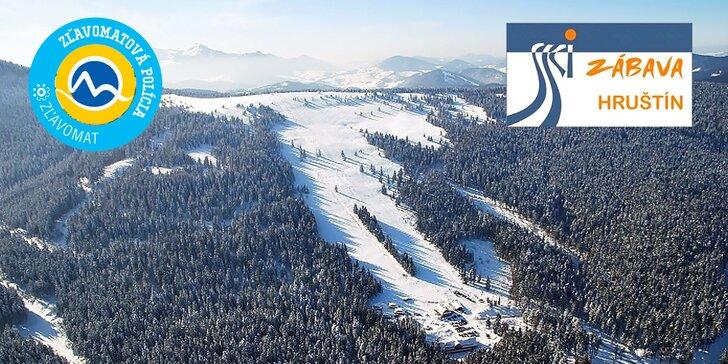 4-hodinový skipas do lyžiarskeho strediska SKI ZÁBAVA Hruštín